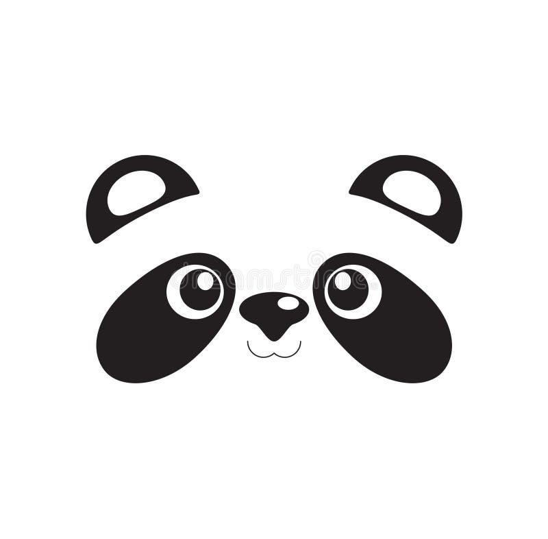 Visage mignon de panda illustration de vecteur