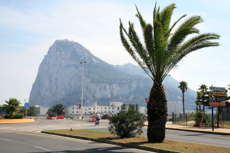 Visage occidental de la roche ibérienne du Gibraltar images stock
