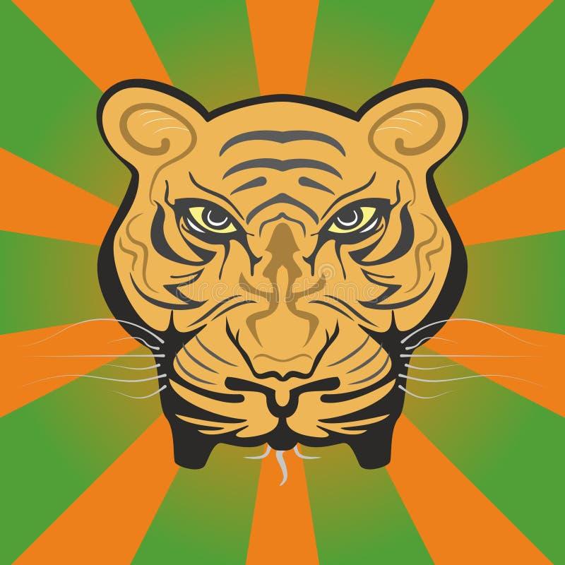 Visage puissant de tigre illustration libre de droits