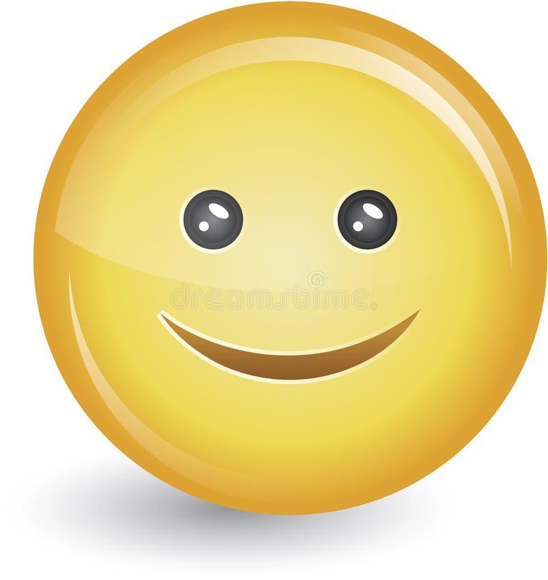 Visage souriant heureux illustration de vecteur