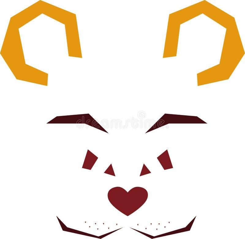 Visage stylisé de vecteur d'un ours sauvage illustration libre de droits
