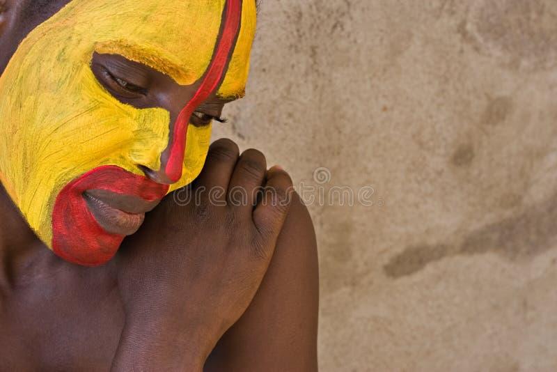Visage tribal images libres de droits