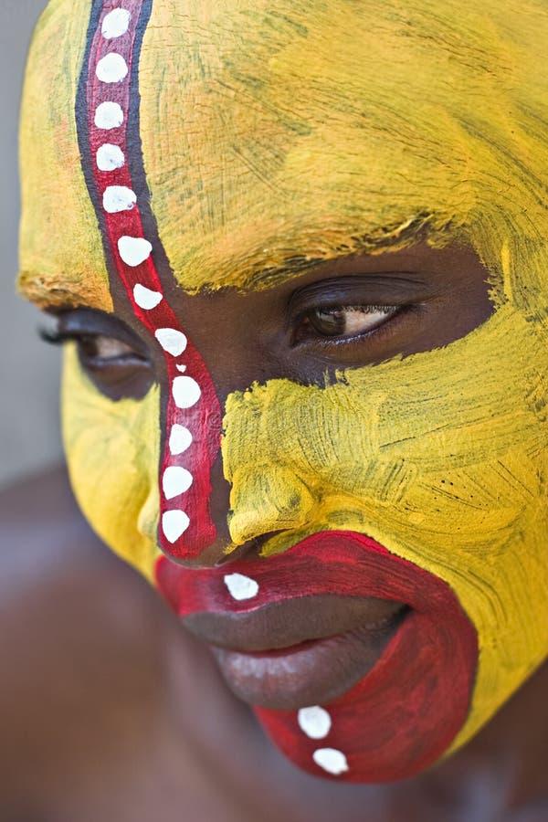 Visage tribal photos libres de droits