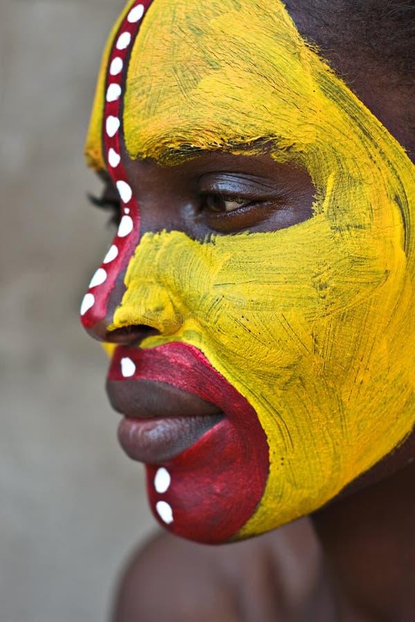 Visage tribal photographie stock libre de droits