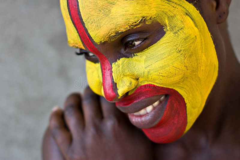 Visage tribal image stock
