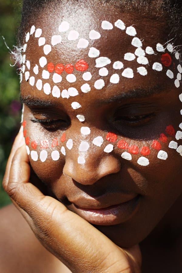Visage tribal images stock