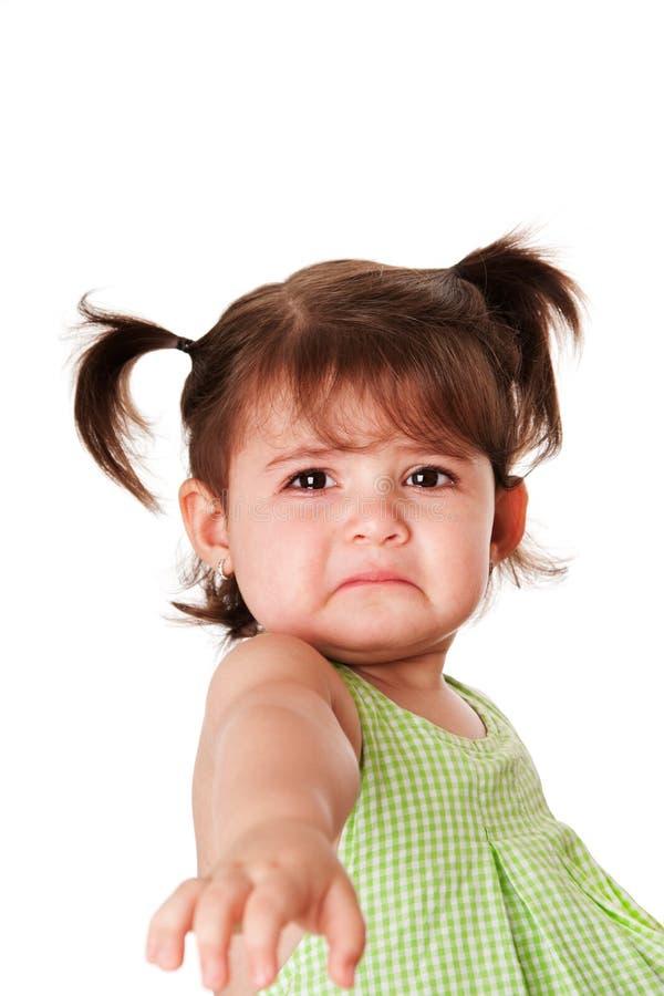 Visage triste de petite fille photographie stock