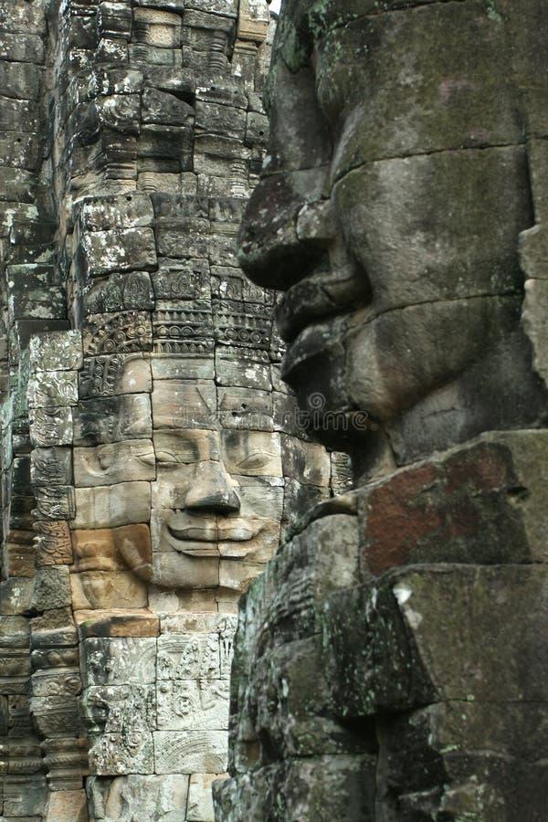visages d'angkor photos libres de droits