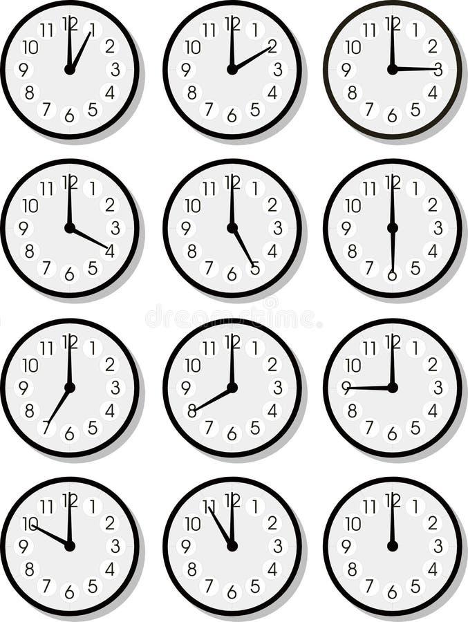 Visages d'horloge de vecteur illustration de vecteur