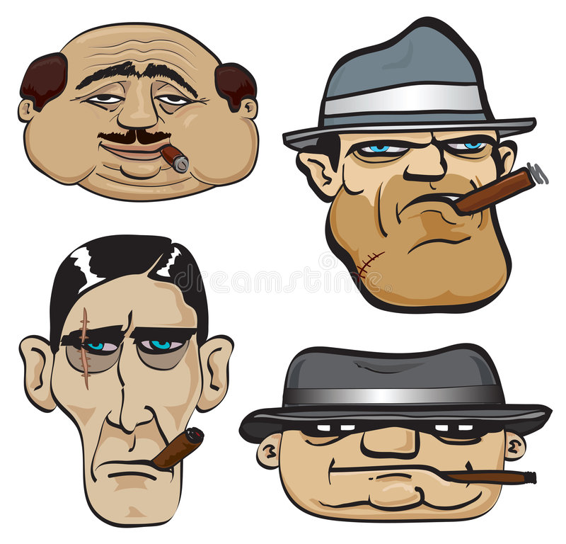 Visages de bandit illustration de vecteur