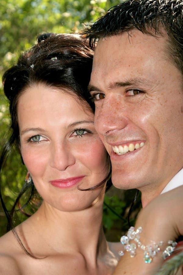 Visages de couples images libres de droits