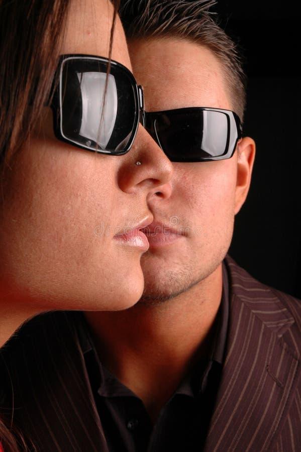 Visages de couples photos stock