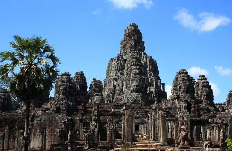 Visages de pierre de Bayon Angkor photo libre de droits