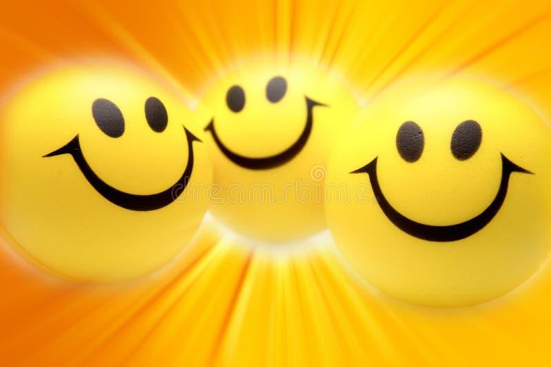 Visages de sourire illustration de vecteur