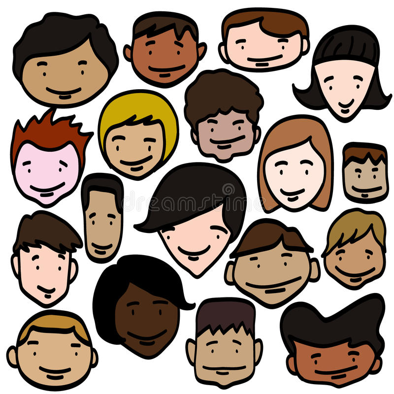 Visages de sourire d'enfants photos stock
