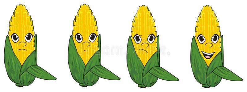 Visages des grains illustration de vecteur