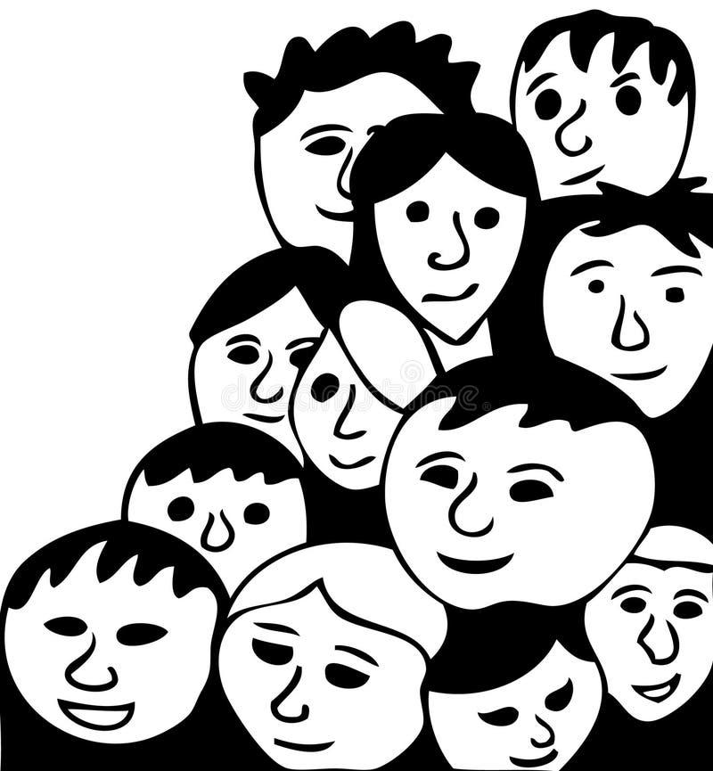 Visages heureux illustration stock