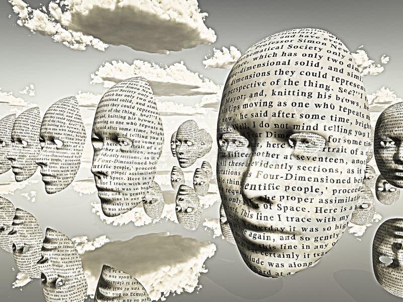 visages illustration libre de droits