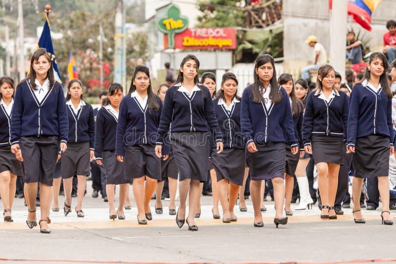 Visages tristes de filles de lycée photographie stock libre de droits