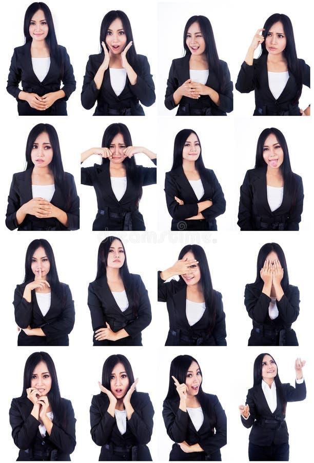 Visages utiles de femme d'affaires image stock