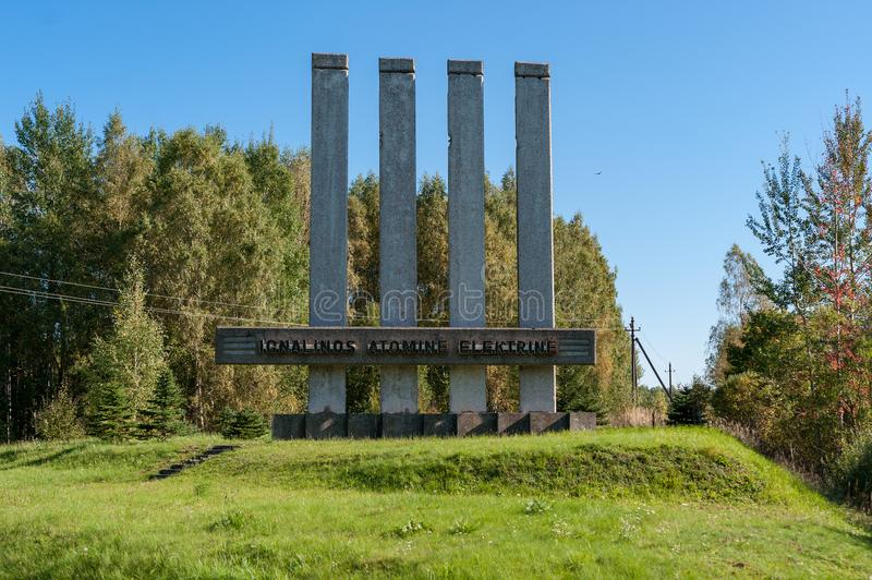 Download VISAGINAS, LITHUANIA - SEPTEMBER 24, 2017: Visaginas Nuclear Plant Power Name In Lithuania, Editorial Stock Image - Image of high, metal: 102954739