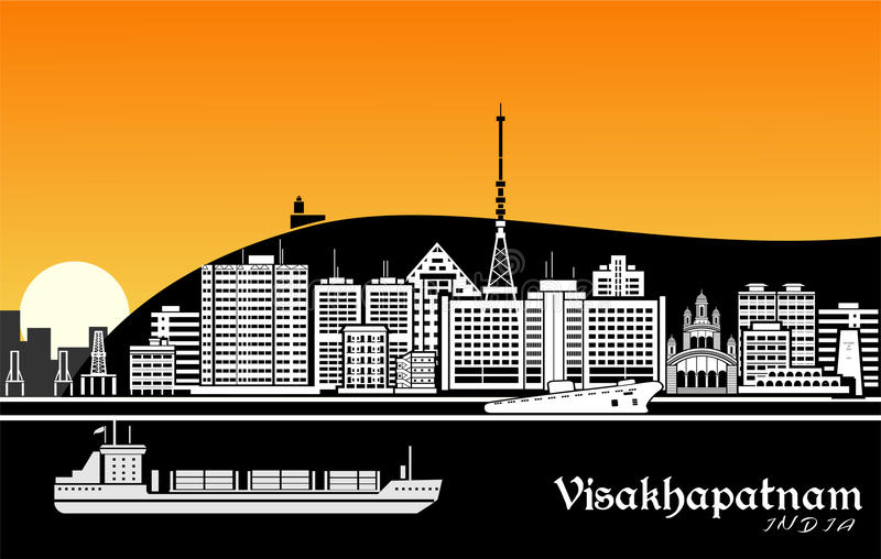 Visakhapatnam illustration de vecteur