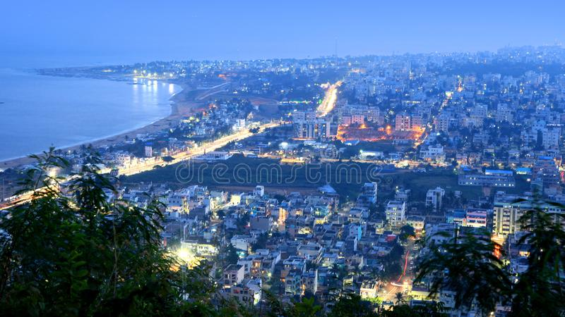 Visakhapatnam, India. December 9 : Visakhapatnam is a largest city in newly bifurcated Andhra Pradesh state in India, On December 9,2015 royalty free stock photography
