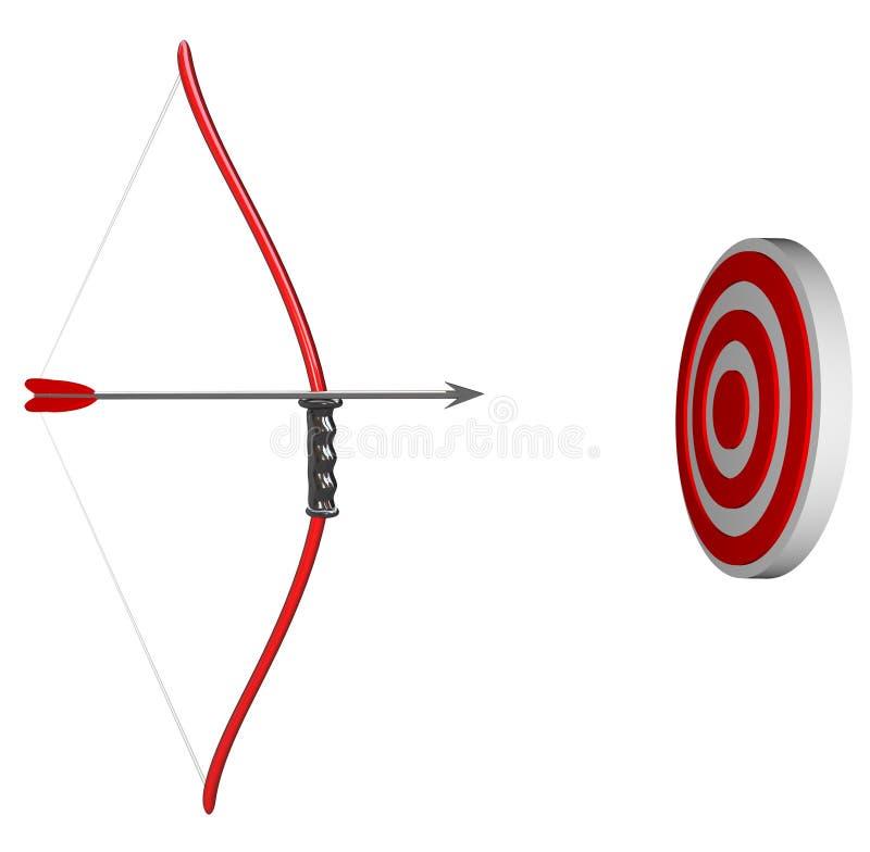 Visant votre cible - proue et flèche illustration de vecteur