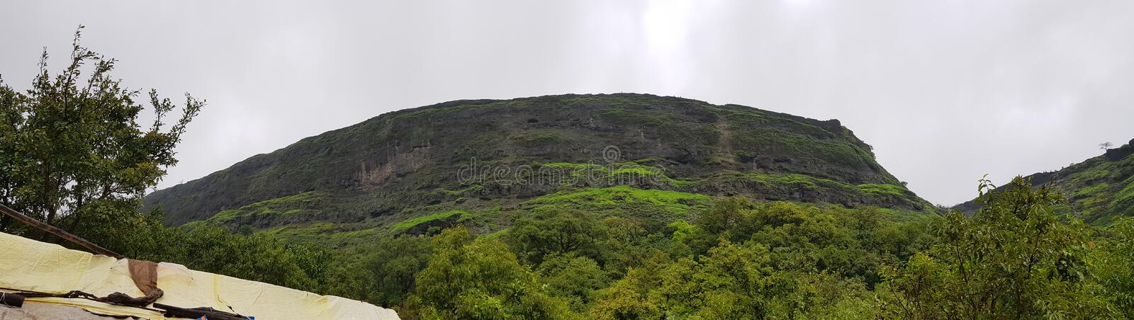 Visapur fort is the beuty of indian culture royalty free stock photo