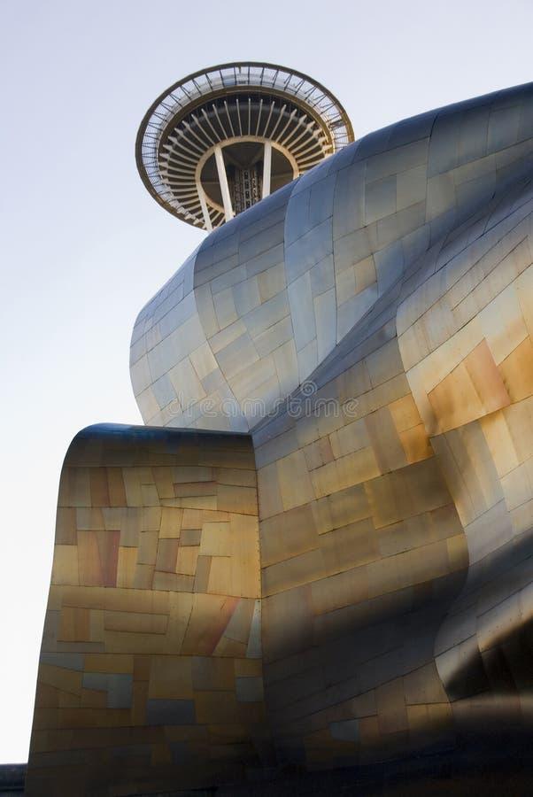 Visare för för erfarenhetsmusikprojekt och utrymme på Seattle - 1 royaltyfria bilder