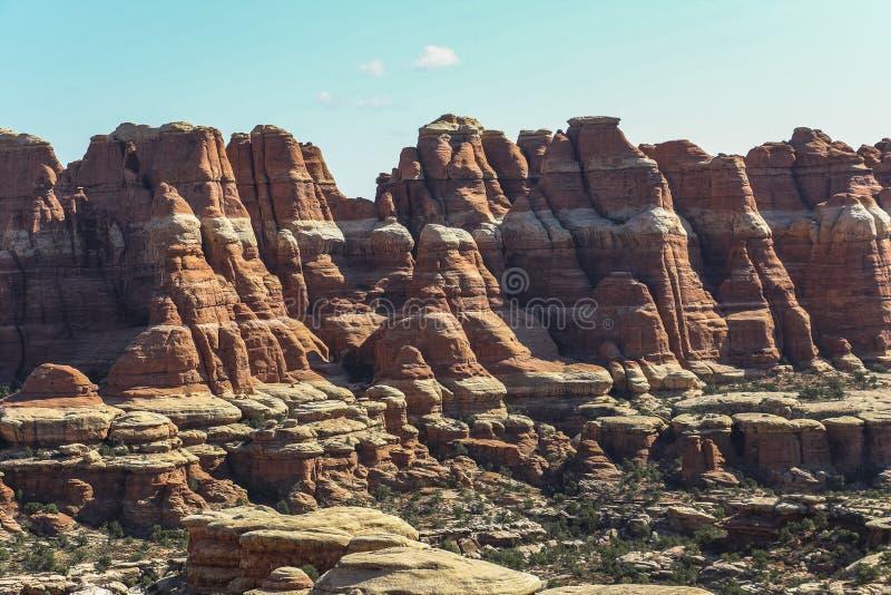 Visare vaggar bildande i den Canyonlands nationalparken arkivfoto