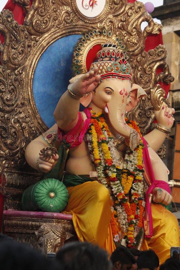 Visarjan Ganpati royalty-vrije stock afbeeldingen