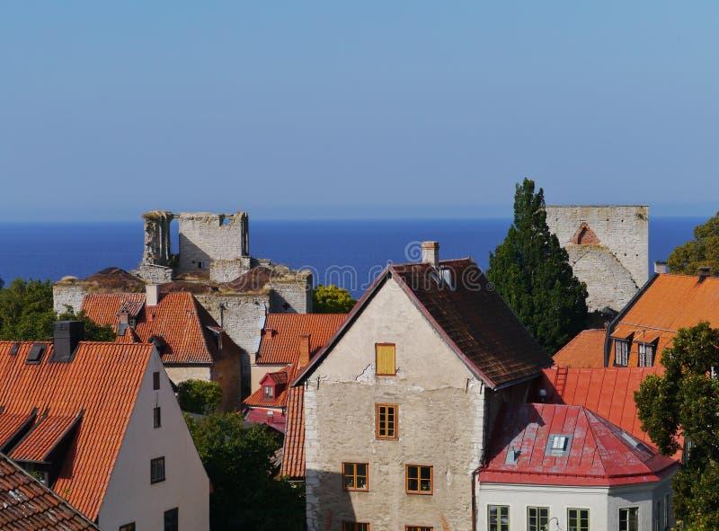 Visby στη Gotland στη Σουηδία στοκ εικόνα