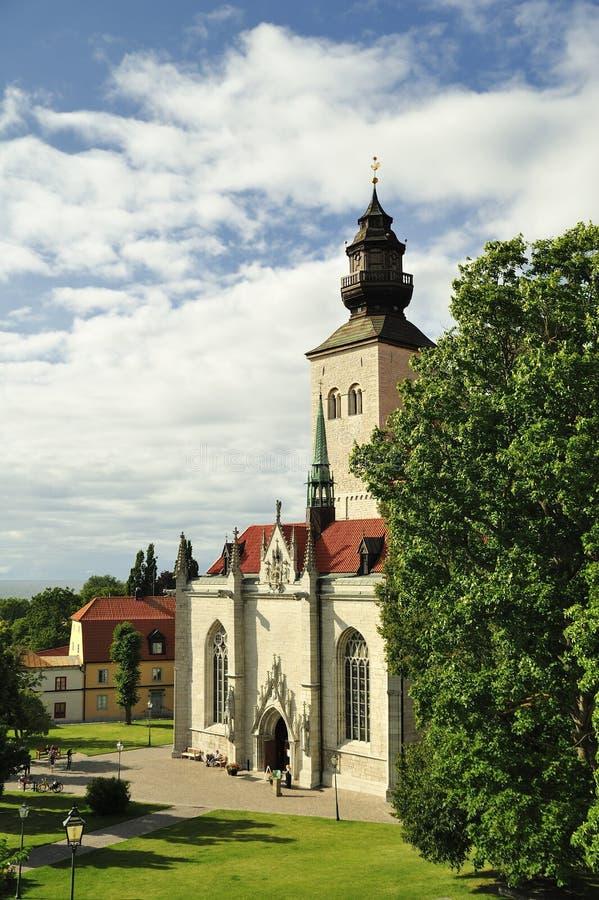 Visby domkyrka royaltyfri fotografi