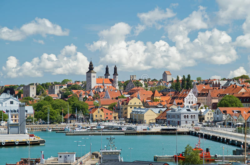 Visby, Gotland, Suécia imagens de stock royalty free