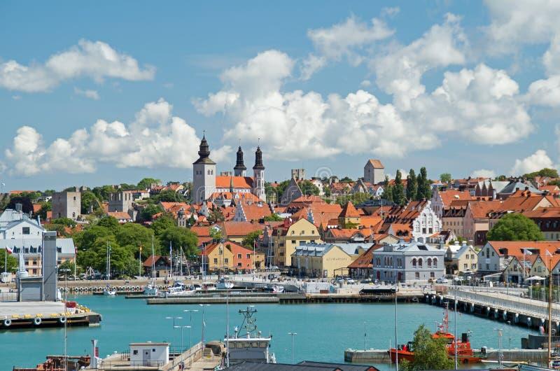 Visby, Gotland, Szwecja obrazy royalty free