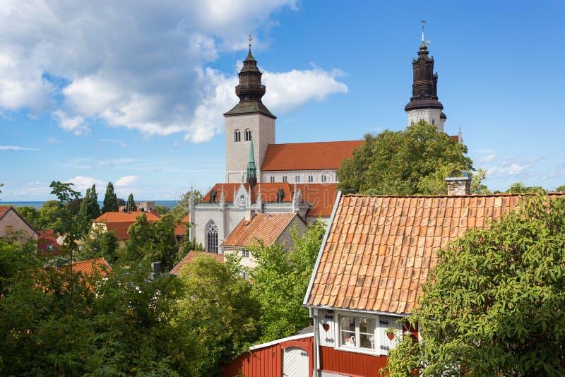 Visby S: domkyrka TA Μαρία, Gotland, Σουηδία στοκ εικόνα με δικαίωμα ελεύθερης χρήσης