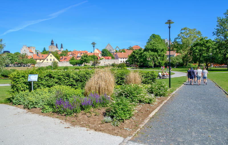 Visby, Suecia imagenes de archivo