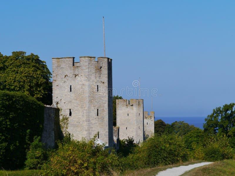 Visby sur le Gotland en Suède photos stock