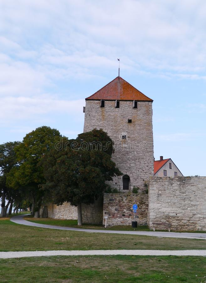 Visby sur le Gotland en Suède images libres de droits