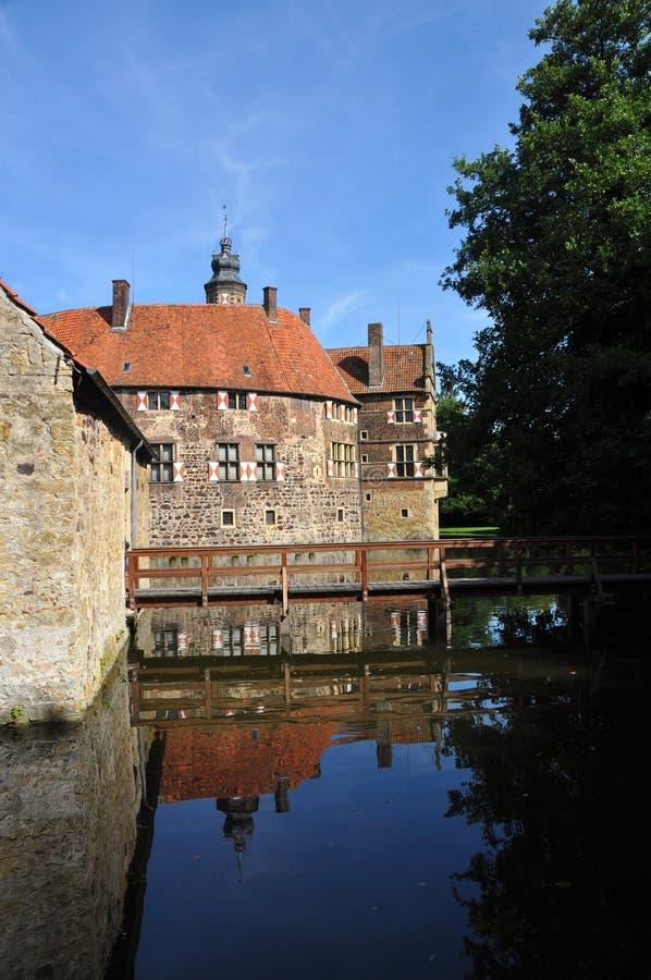 Vischering Wasserschloss, Deutschland stockbilder