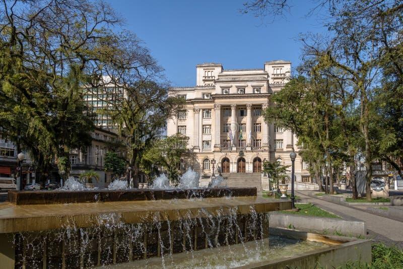 Visconde DE Maua Square en Santos City Hall - Santos, Sao Paulo, Brazilië royalty-vrije stock foto