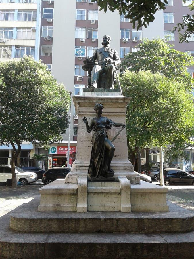 Visconde do Rio Branco standbeeld in Copacabana Rio de Janeiro Brazilië royalty-vrije stock foto's