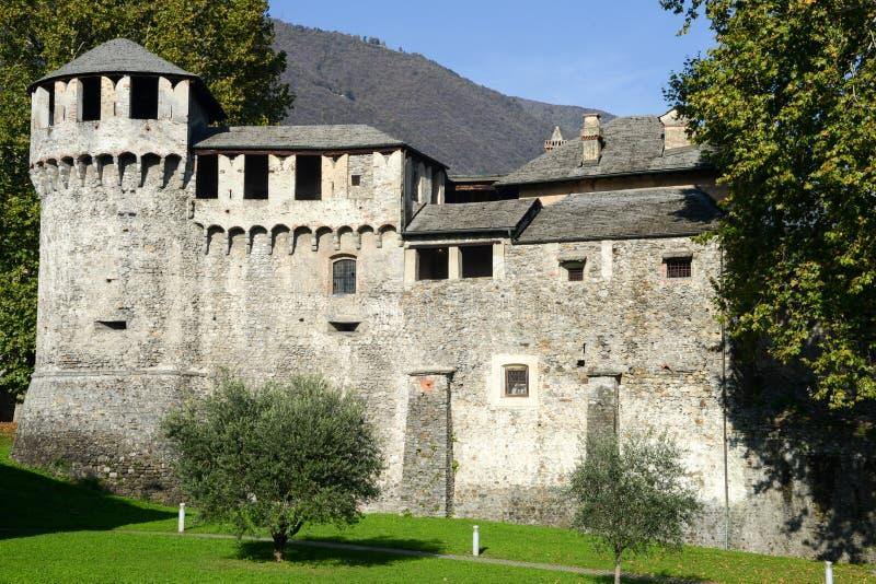 Visconteo-Schloss in Locarno stockbild