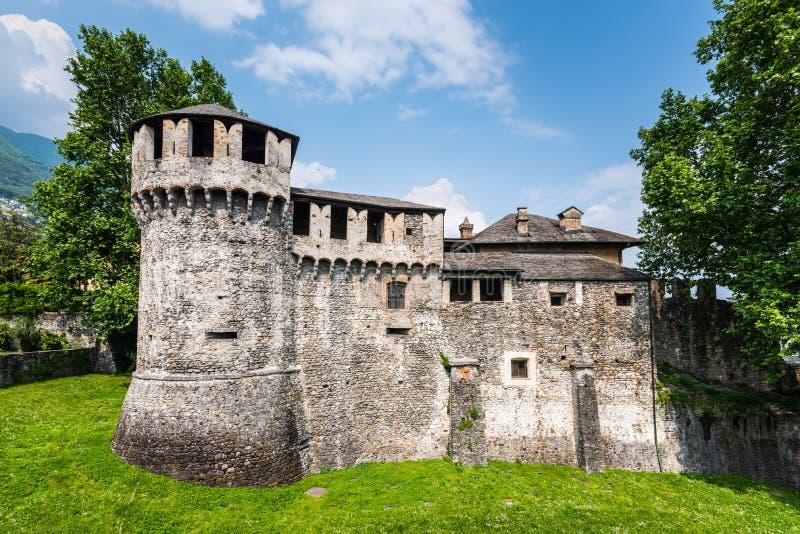 Visconteo-Schloss in Locarno auf der Schweiz lizenzfreies stockbild