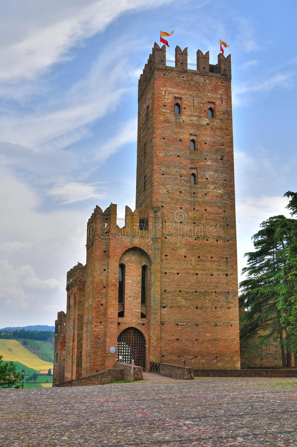 Visconti Castle. Castell'Arquato. Emilia-Romagna. Italy. royalty free stock images