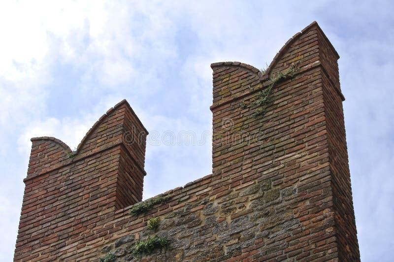 Download Visconti Kasztel. Castell'Arquato. Emilia. Włochy. Zdjęcie Stock - Obraz złożonej z włochy, antyczny: 28956318