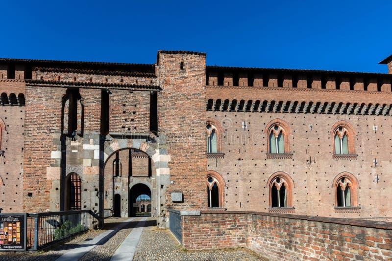 Visconti kasztel Pavia zdjęcia royalty free