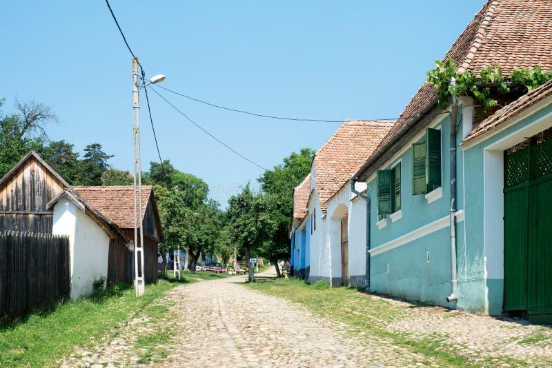 Viscri村庄,特兰西瓦尼亚,罗马尼亚 免版税库存图片