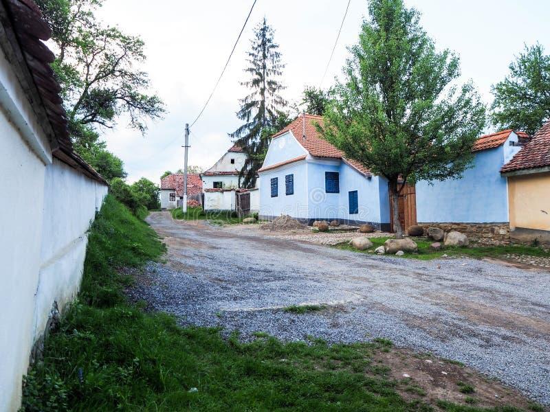 Viscri,特兰西瓦尼亚,罗马尼亚村庄  免版税图库摄影